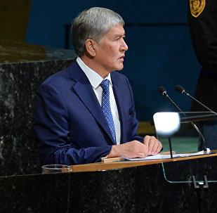 Алмазбек Атамбаев Бириккен Улуттар Уюмунун Башкы ассамблеясынын Нью-Йоркто өтүп жаткан жалпы дебаттарында