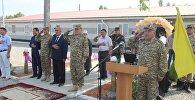 Состоялось открытие военных объектов в воинских частях Сухопутных войск в войсковой части 92840 (село Мады Ошской области)