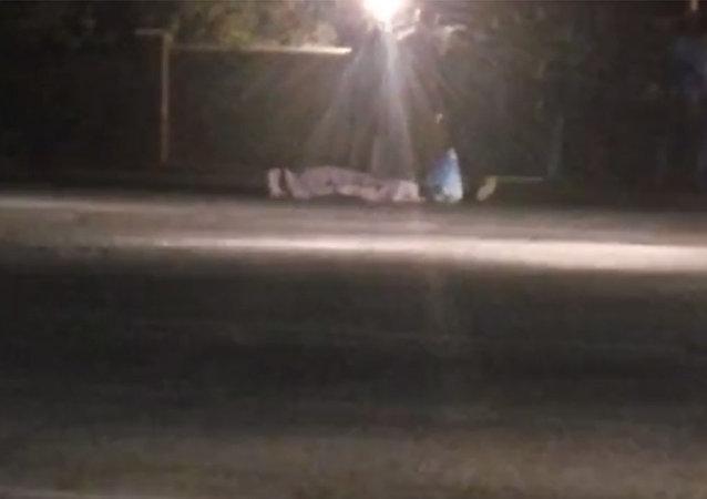 Близ Бишкека насмерть сбили человека — кадры очевидца