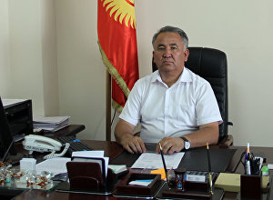 Директор Департамента пастбищ, животноводства и рыбного хозяйства Урматбек Мырзакматов