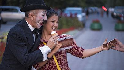 Международный фестиваль уличных театров в Бишкеке
