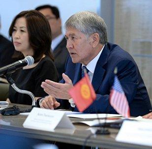 Президент Кыргызстана Алмазбек Атамбаев в рамках рабочего визита в Нью-Йорк. Архивное фото