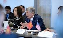 Президент Алмазбек Атамбаев Нью-Йоркко болгон иш сапарында