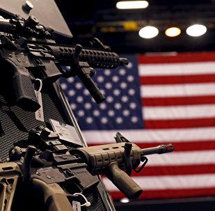Стенд для производителя огнестрельного оружия. Архивное фото