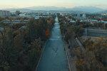 Бишкектеги арыктарга суу кантип берилет? Тазалыкчылардын ишин асмандан карайбыз