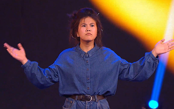 Участница телевизионного шоу Ты супер! Танцы от Кыргызстана Айдана Шатемирова