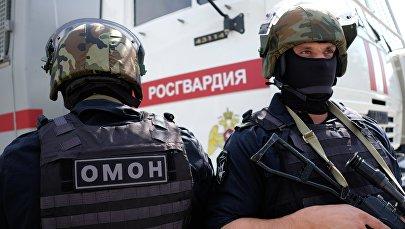 Сотрудники ОМОНа Главного управления Росгвардии по Краснодарскому краю