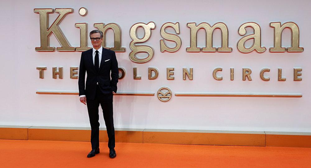 Актер Колин Ферт прибывает на премьере фильма Мэттью Вона Кингсман: Золотое кольцо