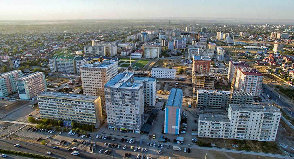 Бишкек шаарындагы көп кабаттуу үйлөр. Архив