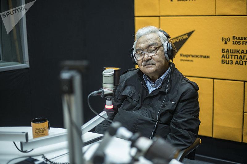Режиссер, народный артист СССР и Кыргызстана Болот Шамшиев во время интервью Sputnik Кыргызстан