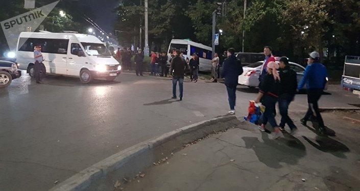 ДТП с маршрутным такси в центре Бишкека