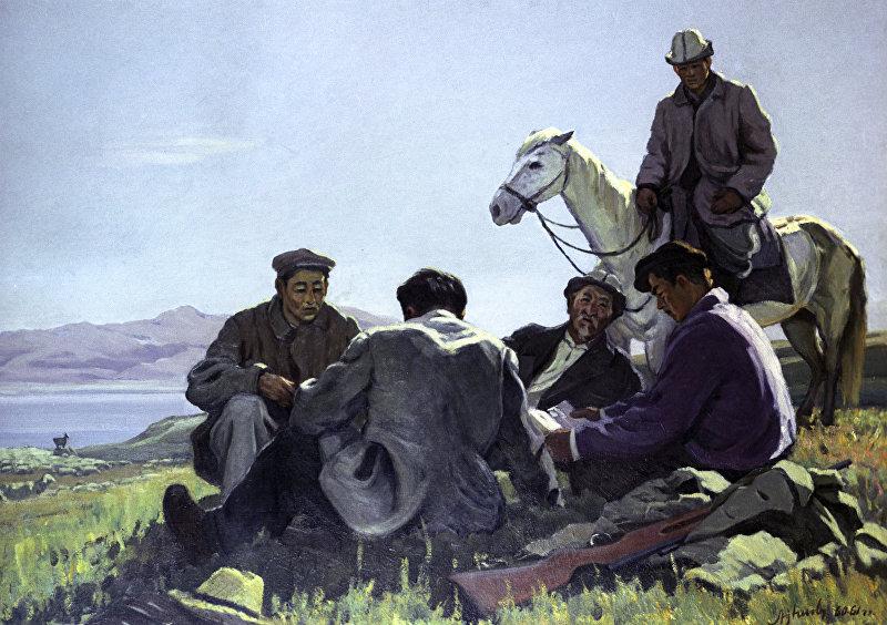 Репродукция картины Г.А.Айтиева Чабаны