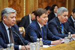 Премьер-министр Кыргызстана Сапар Исаков в рамках официального визита в Россию встретился с председателем Государственной Думы Федерального Собрания Вячеславом Володиным