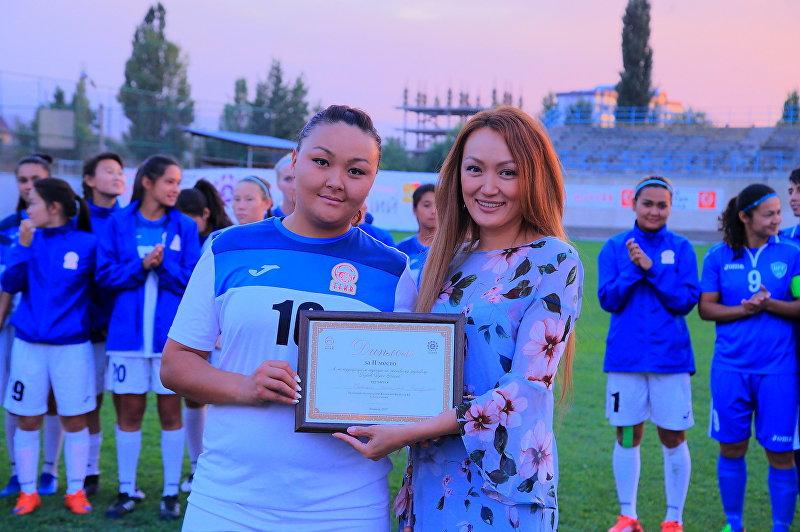 Владелица ресторанов, президент Ассоциации женского футбола КР Бермет Тологонова