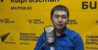 Жаштар иши, дене тарбия жана спорт агенттигинин маалымат катчысы Нурдин Султамбаев. Архив