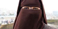 Девушка в платке-никабе. Архивное фото