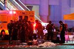 Сотрудники полиции США после стрельбы у казино в Лас-Вегасе