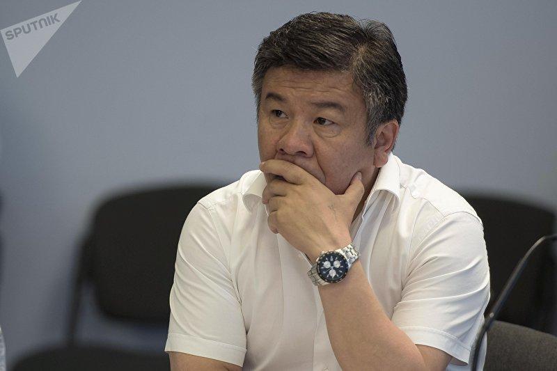 Депутат ЖК 6 созыва Алмамбет Шыкмаматов от фракции Ата-Мекен