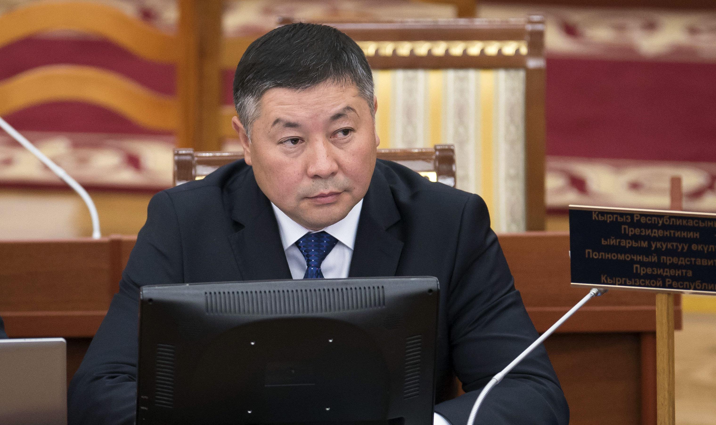 Депутат ЖК шестого созыва Канатбек Исаев от партии Кыргызстан. Архивное фото