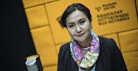 Карылардын ресурстук борборунун аткаруучу директору Гүлмира Эсенгелдиева маек учурунда