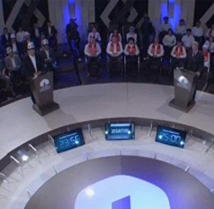 С 3 октября на КТРК стартуют дебаты претендентов на главный пост страны. Sputnik ведет ретрансляцию. Начало в 21.00.