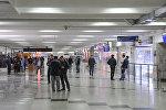 Зал ожидания международного аэропорта Манас. Архивное фото