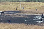 Кадры с места крушения самолета под Алматы — на борту были кыргызстанцы