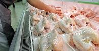Замороженные курицы в супермаркете. Архивное фото