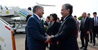 Президент КР Алмазбек Атамбаев прибыл с госвизитом в Узбекистан