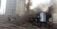 Пожар в электрической подстанции в микрорайоне Джал