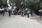 В Лейлекском районе на границе с Таджикистаном грузовой автомобиль с углем провалился под землю