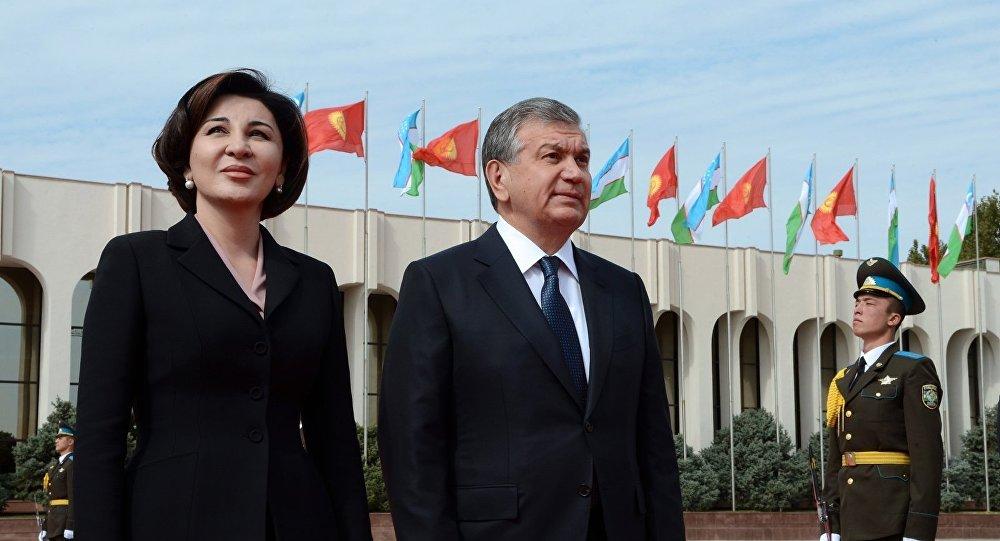 Президент Узбекистана Шавкат Мирзиёев и первая леди Зироатхон Хошимова. Архивное фото