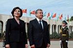 Өзбекстандын президенти Шавкат Мирзиёев жана биринчи айымы Зироатхон Хошимова. Архив