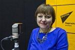Психолог-консультант Светлана Нагорнова во время интервью на радио Sputnik Кыргызстан