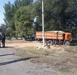 Последствия ДТП на трассе Бишкек — Кара-Балта, где погиб вице-премьер-министр КР по силовому блоку Темир Джумакадыро
