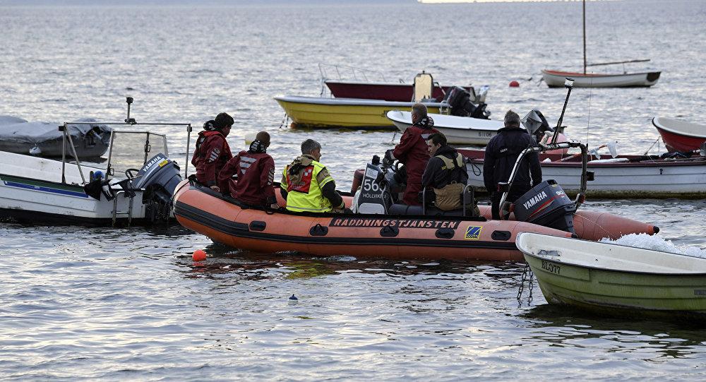 Сотрудники полиции Дании проводят поисковую операцию в заливе Копенгагена. Архивное