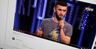 Уроженец Кара-Балты Анзор Борзаев на шоу Открытый микрофон на телеканале ТНТ. Фото с YouTube канала пользователя Borubek Kudayarov