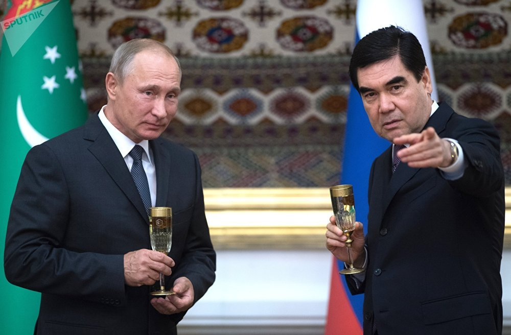 Официальный визит президента РФ В. Путина в Туркмению