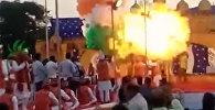 Вот это бомба! На празднике в Индии взорвались воздушные шары