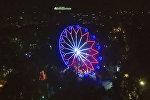 Новое колесо обозрения в парке Панфилова — аэросъемка