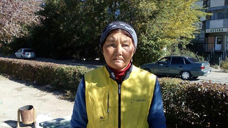Сотрудница муниципального предприятия в городе Балыкчи Сымбат Бараканова