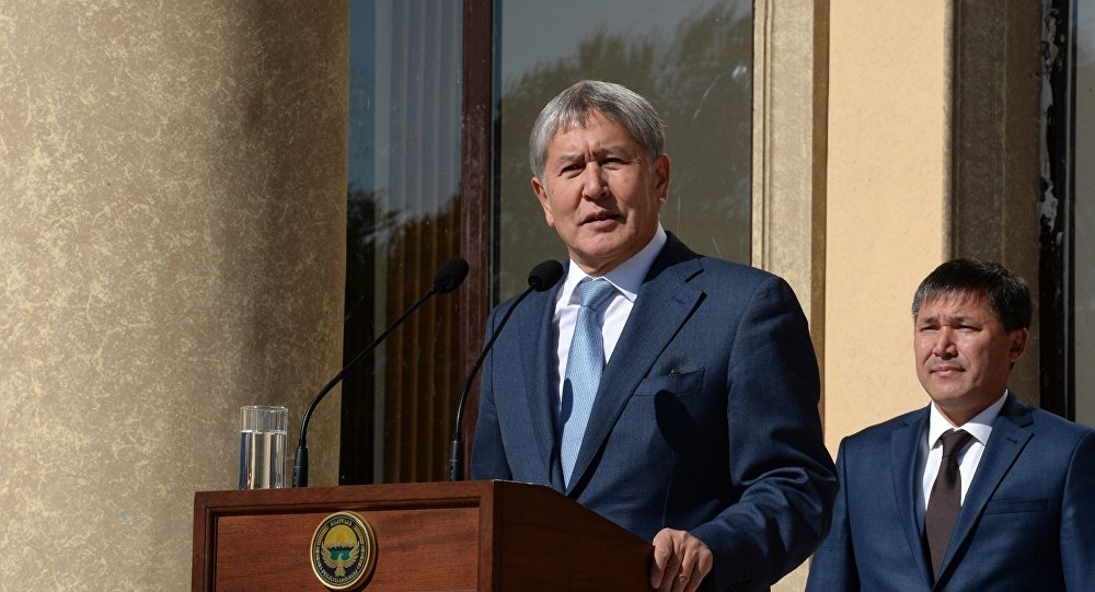 Рабочая поездка президента Алмазбека Атамбаева в Таласскую область