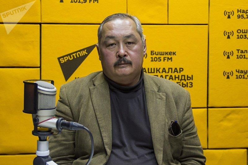 Директор Центра международных исследований Дипломатической академии МИД КР Азамат Карагулов во время интервью на радио Sputnik Кыргызстан