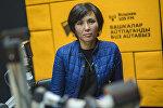 Балдарды коргоо борборунун социалдык кызматкери Айнура Эмирканова маек учурунда