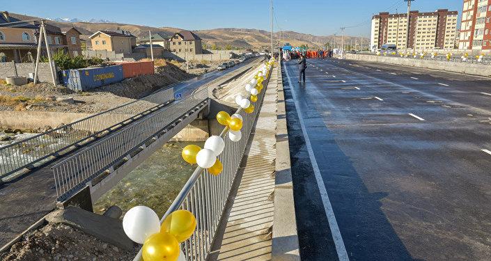 В столице Кыргызстана открыли мост через реку Аламедин по улице Токомбаева (Южная магистраль)