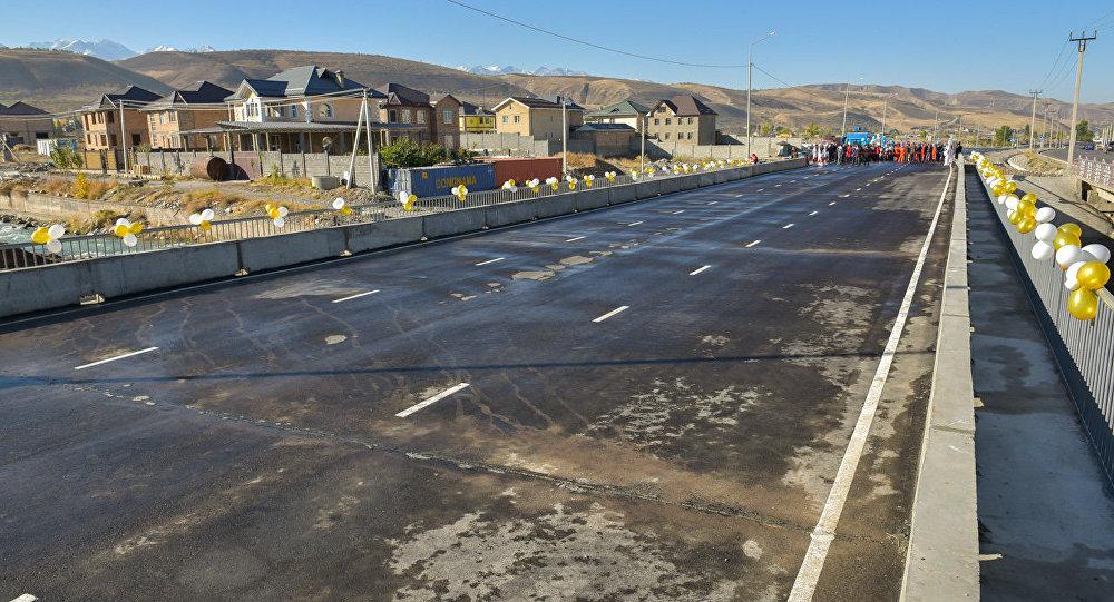 Открытие моста через реку Аламедин по улице Токомбаева (Южная магистраль)