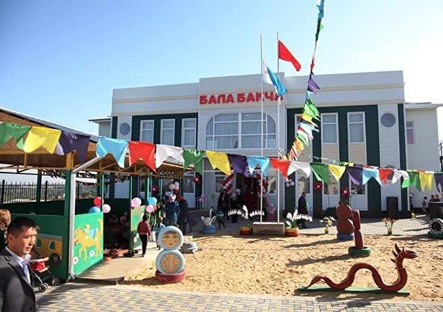 Открытие детского сада в ТИК Курманжан Датка-2 в городе Ош