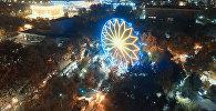 Заработало самое большое колесо обозрения в Бишкеке! Видео тест-драйва