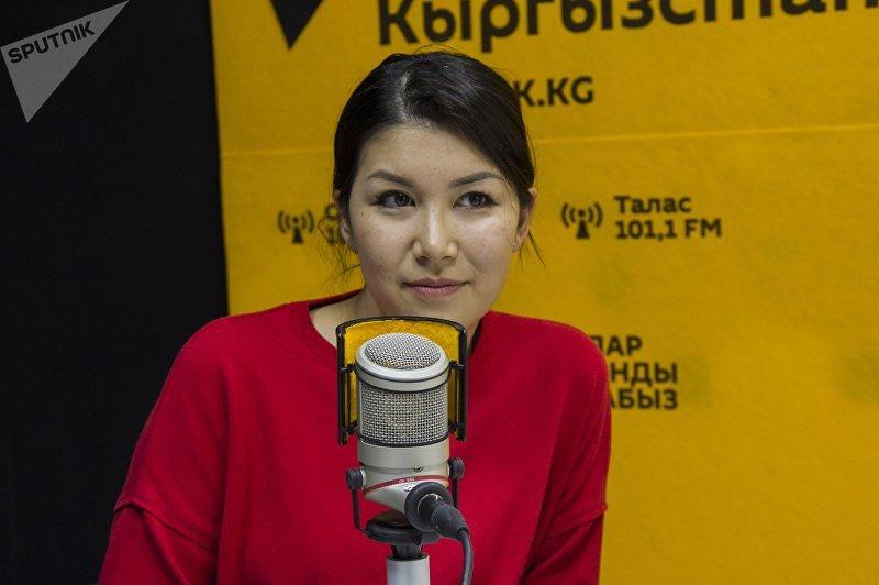 Юрист Дарика Джумабаева во время интервью Sputnik Кыргызстан