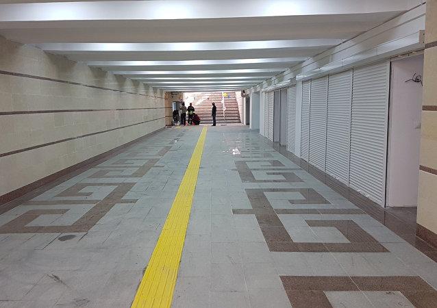 Завершился ремонт подземного перехода на пересечении проспекта Чуй и улицы Абдрахманова в Бишкеке